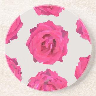 Posavasos rosas frescos