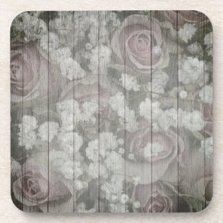Posavasos Rosas grises de la moda del país