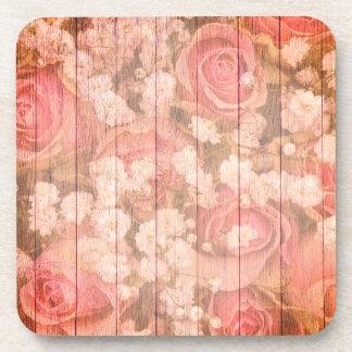 Posavasos Rosas rosados de la moda del país