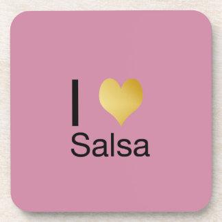 Posavasos Salsa juguetónamente elegante del corazón de I
