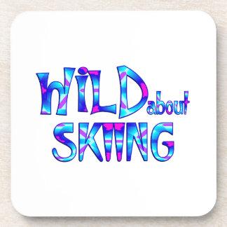 Posavasos Salvaje sobre el esquí