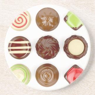 Posavasos Selección de caramelos de chocolate