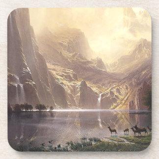 Posavasos Sierras práctico de costa del lago waterfall de