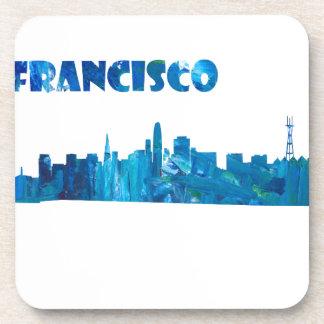 Posavasos Silueta del horizonte de San Francisco