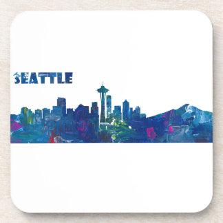 Posavasos Silueta del horizonte de Seattle