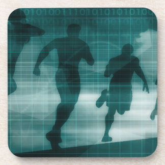 Posavasos Silueta del software del perseguidor del App de la