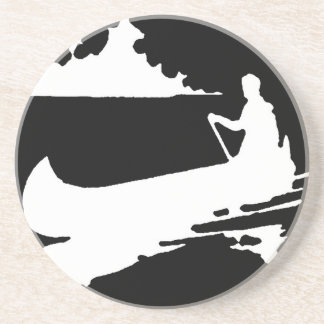 Posavasos Silueta retra de la canoa