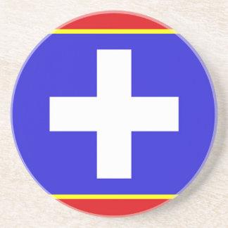 Posavasos símbolo país-región de la bandera central de
