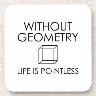 Posavasos Sin geometría la vida es insustancial