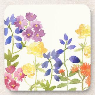 Posavasos Sistema colorido floral salvaje del práctico de