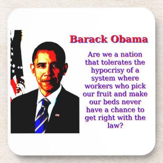 Posavasos Somos una nación que tolere - Barack Obama