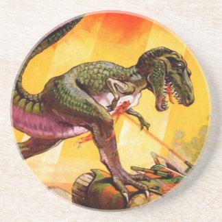 Posavasos T-Rex contra el tanque de Sherman