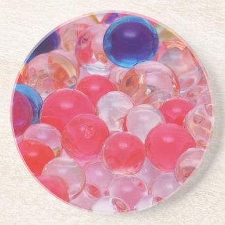 Posavasos textura de las bolas del agua