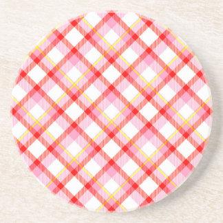 Posavasos Textura del tartán del color