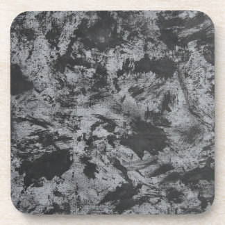 Posavasos Tinta negra en fondo gris