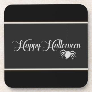 Posavasos Tipografía del feliz Halloween