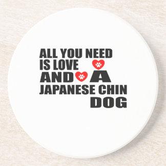 Posavasos Todos usted necesita diseños de los perros de CHIN