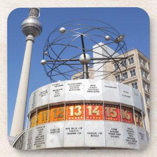 Posavasos Torre del reloj mundial y de la televisión,