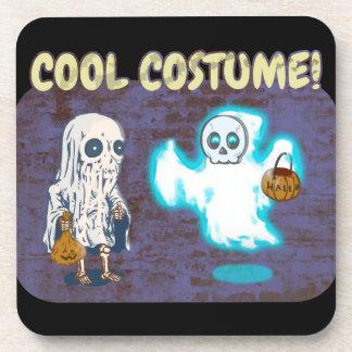 Posavasos Traje del fantasma y del esqueleto
