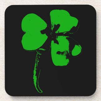 Posavasos Trébol del verde del día de St Patrick - prácticos
