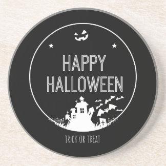 Posavasos Truco o invitación del feliz Halloween