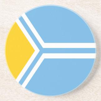 Posavasos Tuva señala por medio de una bandera