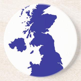 Posavasos U.K. y silueta de Irlanda del Norte