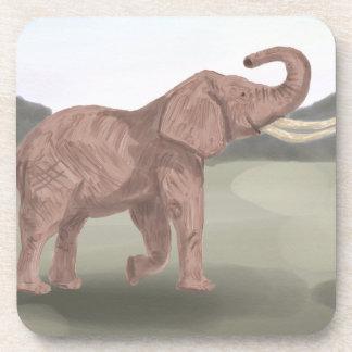 Posavasos Un elefante de la sabana