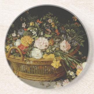 Posavasos Una cesta de flores - Jan Brueghel el más joven