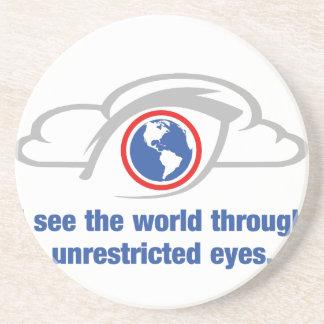 Posavasos Veo el mundo a través de ojos sin restricción
