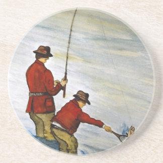 Posavasos Viaje de pesca del padre y del hijo