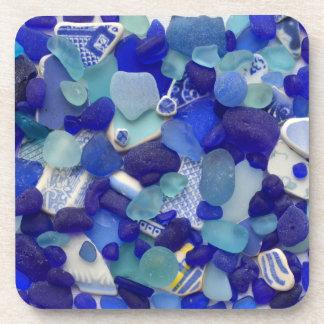 Posavasos Vidrio del mar, vidrio de la playa, prácticos de