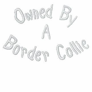 Poseído por la camiseta bordada border collie