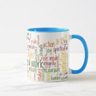 Positividad de motivación de las palabras #2 en taza