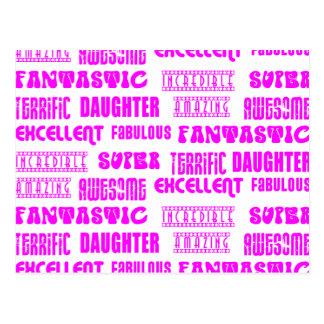 Positivos rosados frescos de las hijas del diseño postal