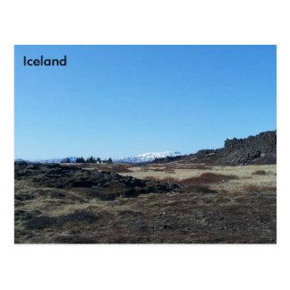 Postal Þingvellir, Islandia