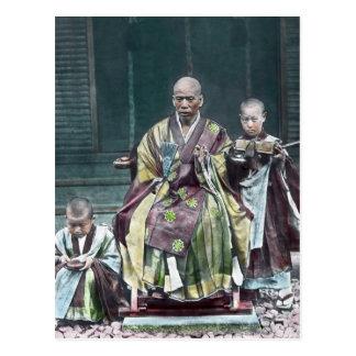 Postal 僧 japonés de Japón de los monjes budistas del