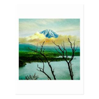 Postal 富士山 del monte Fuji a través del japonés del