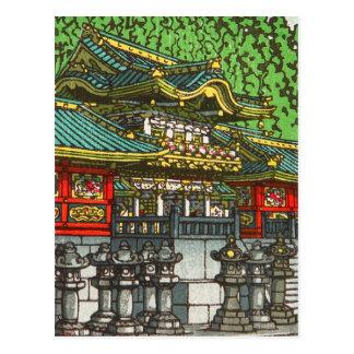 Postal 川瀬巴水 de Kawase Hasui: Capilla de Toshogu en Nikko
