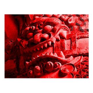 Postal 赤鬼 de la máscara de Oni del samurai