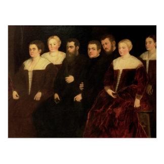 Postal 00409 siete miembros de la familia de Soranzo