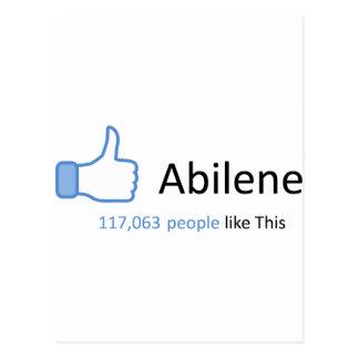 Postal 117063 personas tienen gusto de Abilene