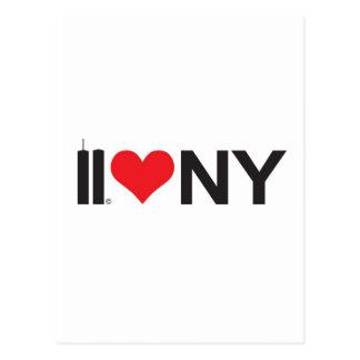 Postal 11 de septiembre amor NY de las torres gemelas