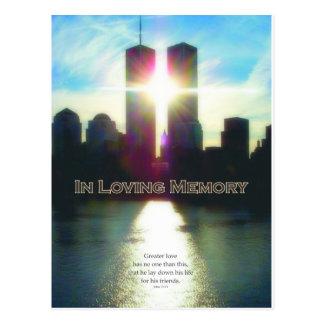 Postal 11 de septiembre en memoria cariñosa