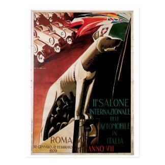 Postal 11mo Salone Internazional Dell automóvil de 1929
