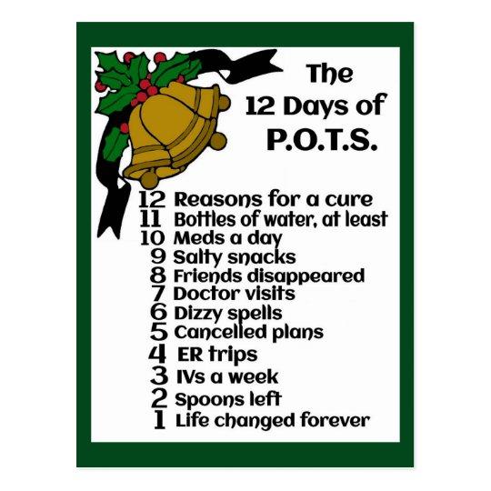 Postal 12 días del navidad… P.O.T.S.