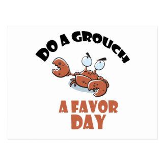 Postal 16 de febrero - haga un Grouch al día del favor