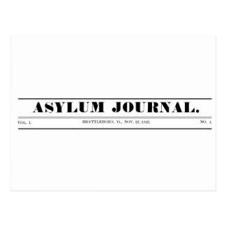 Postal 1842 del Masthead del diario del asilo