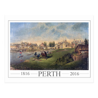 Postal 1853 Perth de pintura histórica Ontario
