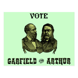 Postal 1880 voto Garfield y Arturo, verdes